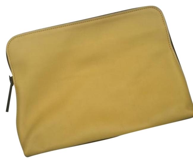 Item - Minute Yellow and Black Leather Clutch