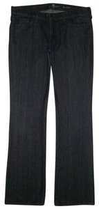7 For All Mankind 5 Pocket Style Zip Fly Cotton/spandex Boot Cut Jeans-Dark Rinse