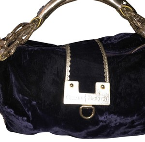 Cesare Paciotti Satchel in Blue/gold