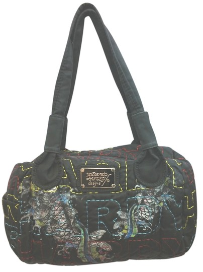 Preload https://img-static.tradesy.com/item/15083563/ed-hardy-stitched-quilted-printed-fabric-satchel-0-1-540-540.jpg