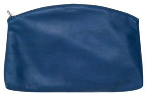 BAGGU Leather Made In The Usa BLUE Clutch