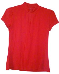 Style & Co & Mock Neck Cotton Top Red