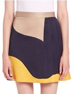 MSGM Multi Color Mini Skirt Black/Gold/Tan