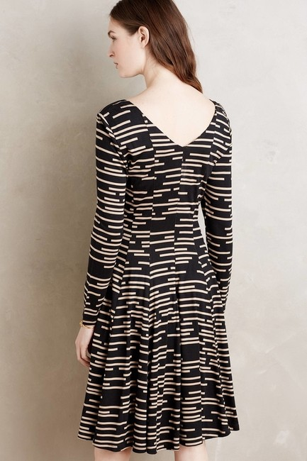 Anthropologie short dress _ Hd In Paris Black Striped on Tradesy Image 1