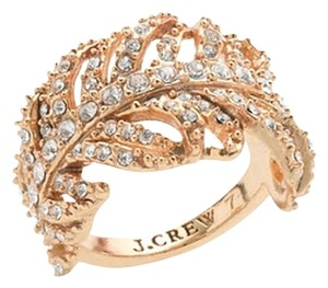 J.Crew NEW Crystal JCrew Feather Ring size 6