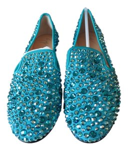 Giuseppe Zanotti Sold Out At Top Online Retailers! Perfect Gift For The Holidays Turquoise Flats