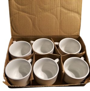 Bloomingdale's Cappuccino Coffee Latte cups set of 6 white
