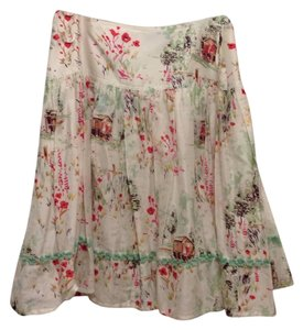Kay Unger Skirt White, mint, and red