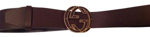 Gucci GUCCI Classic Interlocking Logo Leather Belt