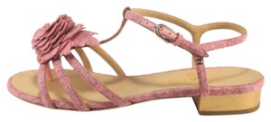 Chanel Camellia Strappy pink Sandals