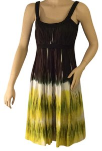 Calvin Klein short dress Yellow, green, brown , and black on Tradesy