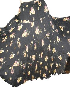 Other Maxi Skirt black florals