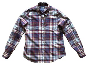 The North Face Button Down Shirt Red/Blue