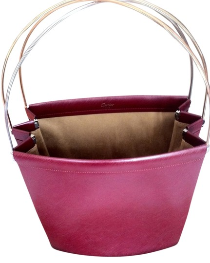 Preload https://item5.tradesy.com/images/cartier-large-trinity-oxblood-leather-tote-1508549-0-3.jpg?width=440&height=440