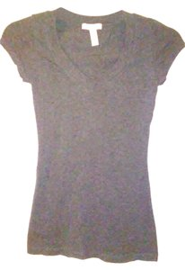 Ambiance Apparel V Neck T Shirt Grey