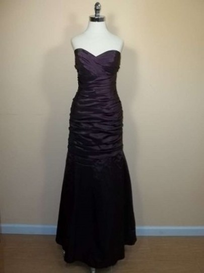 Alfred Angelo Plum Taffeta 7237 Formal Bridesmaid/Mob Dress Size 12 (L)