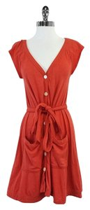 Marc by Marc Jacobs short dress Orange Button Up on Tradesy