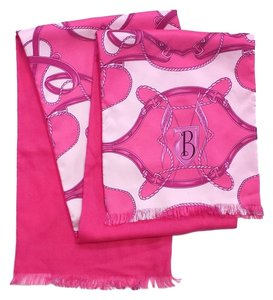 Burberry Pink Print Silk & Cashmere Scarf