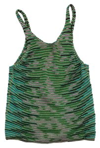 Missoni Green Teal Cotton Knit Top