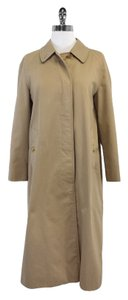 Burberry Tan Cotton Blend Trench Trench Coat