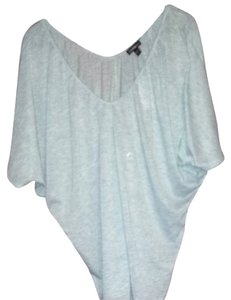 Express Soft V-neck Comfortable Casual T Shirt Light Blue