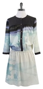 Diane von Furstenberg short dress Watercolor Silk Print on Tradesy