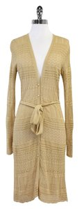 Ralph Lauren Long Tan Crochet Cardigan