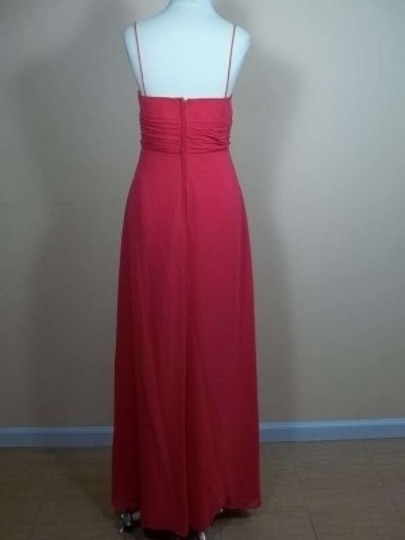 Alfred Angelo Pomegranate Chiffon 7241 Formal Bridesmaid/Mob Dress Size 12 (L)