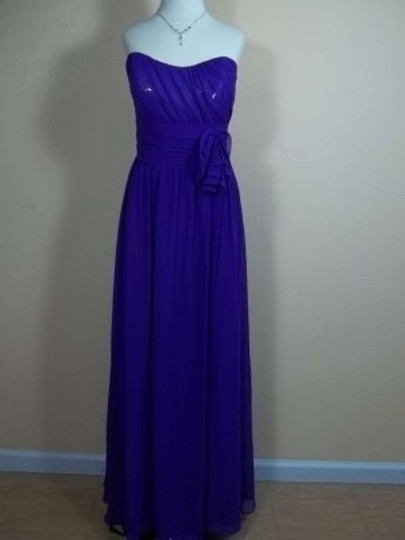 Alfred Angelo Viola Chiffon 7242 Formal Bridesmaid/Mob Dress Size 14 (L)