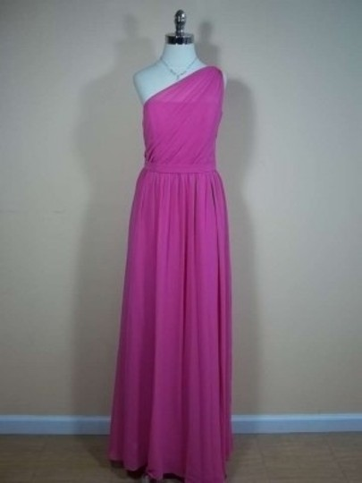 Alfred Angelo Fuchsia Chiffon 7243 Formal Bridesmaid/Mob Dress Size 8 (M)