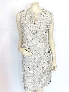Derek Lam short dress black,white,gray Shift Front Pockets 1046 on Tradesy