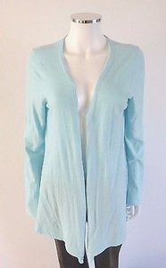 Minnie Rose Drape Cardigan Aqua Sweater