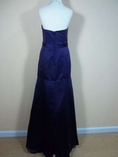 Alfred Angelo Eggplant Satin 7244 Formal Bridesmaid/Mob Dress Size 12 (L)