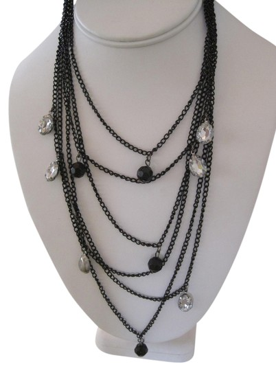 Preload https://item3.tradesy.com/images/unknown-black-and-crystal-multiple-strand-fashion-bib-statement-necklace-1508847-0-0.jpg?width=440&height=440