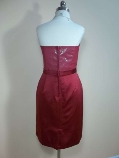 Alfred Angelo Claret Chiffon 7245 Formal Bridesmaid/Mob Dress Size 12 (L)