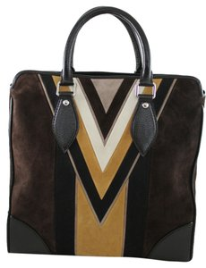 Louis Vuitton Limited Edition Lv Suede Brown Messenger Bag