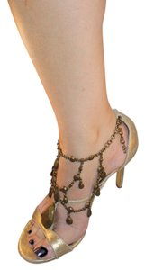 Miss Tina Distresssed Gold Sandals