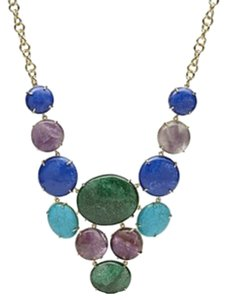 Fossil Fossil Night Sky Stone Bib Statement Necklace