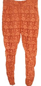 Topshop Floral Lace Orange Leggings
