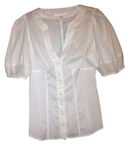 Rebecca Taylor 62% Cotten Top White