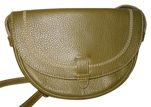 Nicole Miller Leather Vintage Cross Body Bag