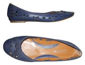 Sperry Leather Eyelet navy Flats