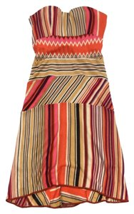 Missoni short dress Multi Color Knit Strapless on Tradesy