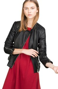 Zara Leather Moto Leather Jacket
