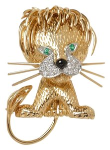 Van Cleef & Arpels Van Cleef & Arpels Gold And Diamond Lion Brooch