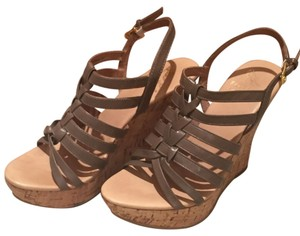 Saks Fifth Avenue Taupe beige Wedges