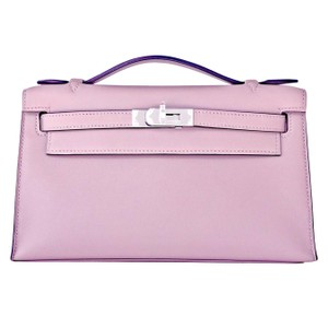 Hermès Glycine Kelly Kelly Pochette Glycine Pochette Purple Clutch