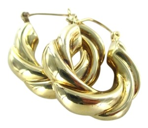 Other 14KT SOLID YELLOW GOLD EARRINGS HOOP SPIRAL 5.4 GRAMS FINE JEWELRY JEWEL WOMAN