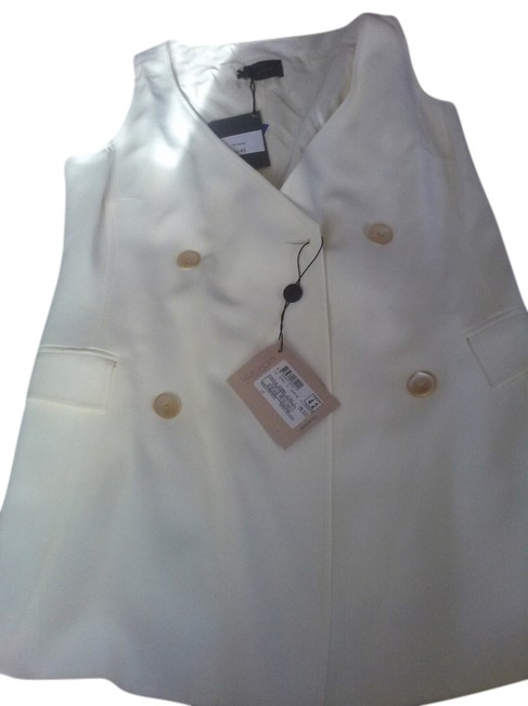 Tombolini White Made In Italy Long Vest Size 8 (M) Tombolini White Made In Italy Long Vest Size 8 (M) Image 1