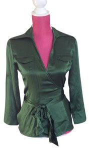 Diane von Furstenberg Top Emerald green